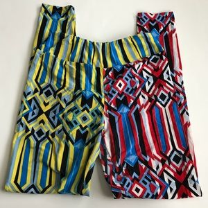 Lularoe crazy print leggings